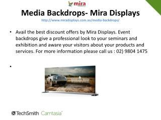 High digital printed media backdrops make any event shine.