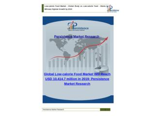 Global Low-calorie Food Market to 2019
