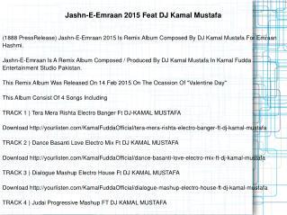 Jashn-E-Emraan 2015 Feat DJ Kamal Mustafa
