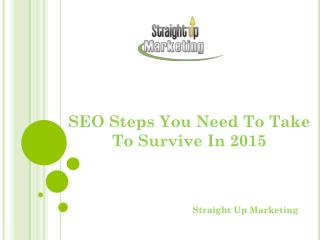 SEO Steps You Need To Take To Survive In 2015