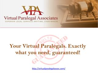 Virtual Paralegal Associates INC