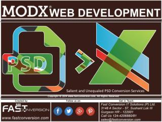 Modx Web Development - PSD to MODX Conversion Service