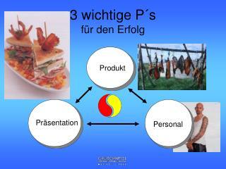 3 wichtige P s  f r den Erfolg