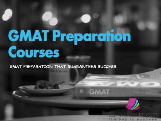 Gmat Preparation Courses
