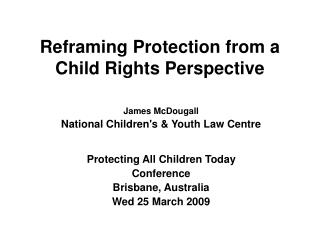 Reframing Protection from a Child Rights Perspective
