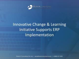 Learning Initiative Supports ERP Implementation
