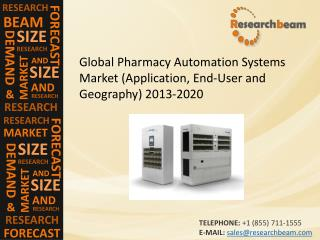 Global Pharmacy Automation Systems Market Size, Trends 2020