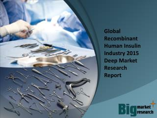 2015 Global Recombinant Human Insulin Industry