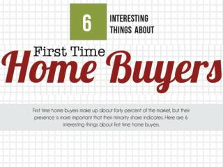 6 Interesting Things About First Time Home Buyers