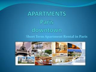 Apartments in Paris flats