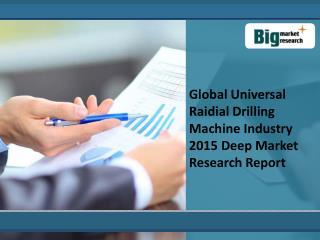 Global Universal Raidial Drilling Machine Industry 2015 Deep