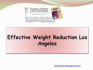 Effective Weight Reduction Los Angeles
