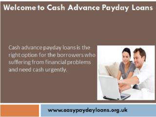 Affordable Financial Assistance With Cash Advance  Loans