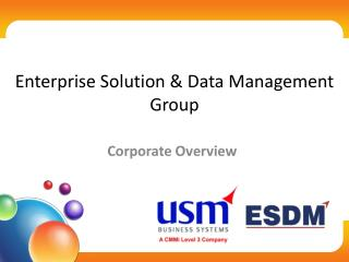 Enterprise solutions and Data Management