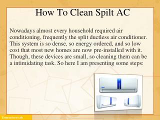 Steps to clean split AC