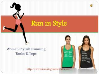 Running Tank Tops | Unique Collection | Running on the Wall