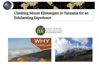 Climbing Mount Kilimanjaro in Tanzania for an Exhilarating