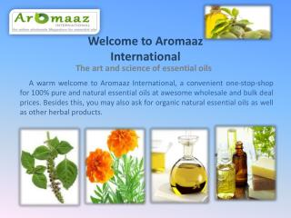 Buy Natural Essential Oils Online