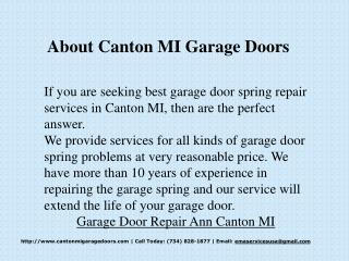 Garage Door Repair Canton MI