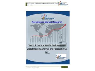Global Touch Screens in Mobile Devices Market