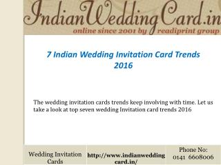 Indian Wedding Invitation Card Trends