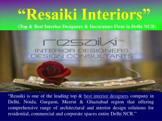 Top & Best Interior Designers in Delhi-NCR