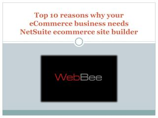 Top 10 reasons why your eCommerce business needs NetSuite ec