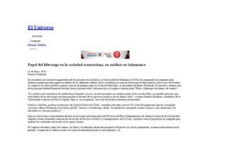 Fidel Egas habla de liderazgo en la USAL
