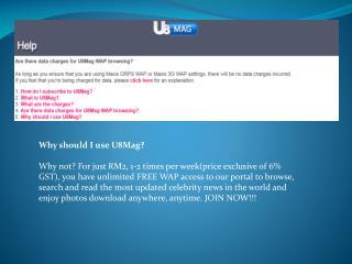 m.u8mag.com : switch to Maxis 3G WAP setting or Maxis GPRS w