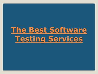 The Best Software Testing Services