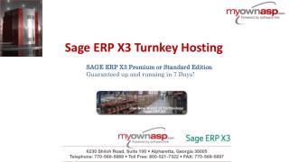 Sage ERP X3 Turnkey Hosting