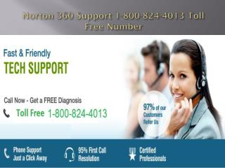 Norton 360 Support 1-800-824-4013 Toll Free Number | Helplin