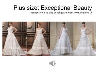 Affordable Plus Size Wedding Dresses at Aiven.co.uk