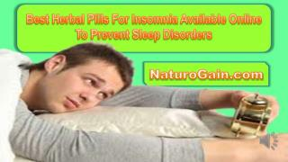 Best Herbal Pills For Insomnia Available Online To Prevent S