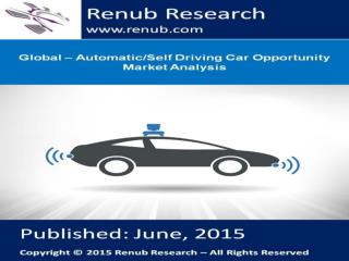 Global – Automatic/Self Driving Car Opportunity Market Analy