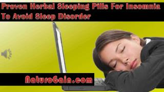 Proven Herbal Sleeping Pills For Insomnia To Avoid Sleep Dis