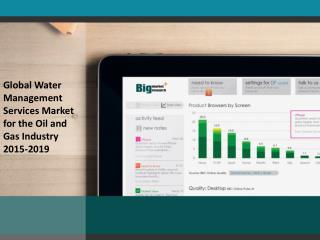 Global Water Management Market for the Oil and Gas Industry