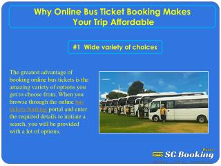 Why online bus ticket booking makes your trip affordable