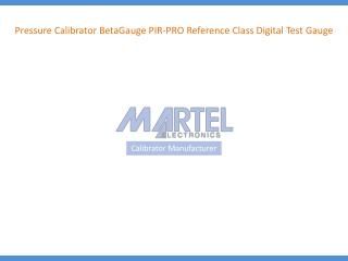Pressure Calibrator BetaGauge PIR-PRO Reference Class Digita