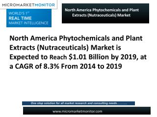 North America Phytochemicals and Plant Extracts (Nutraceutic