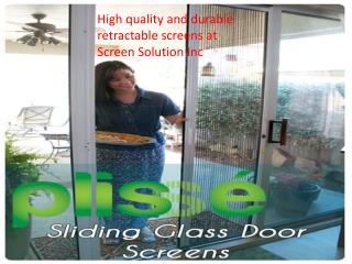 High quality and durable retractable screen