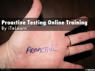 Proactive testing Tutorials, Risk-Based Test Design Proactiv