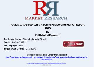 Anaplastic Astrocytoma - Pipeline Review, H1 2015