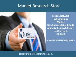 Mobile Network Subscriptions Q2'2012 database
