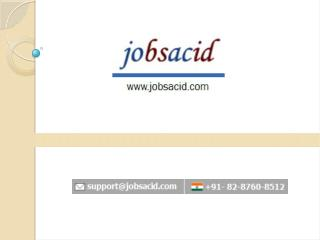 Fresher jobs in bangalore