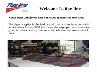 Commercial Upholstery, Re-Upholstery Cutting & Sewing, Aust