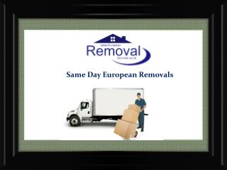 Specialists in Removals to Spain