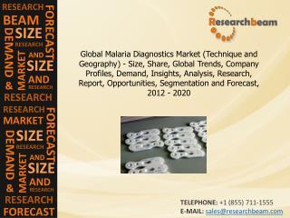 Global Malaria Diagnostics Market Trends, 2012-2020