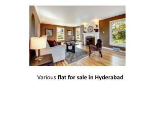 Various flat for sale in Hyderabad