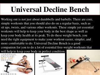 Universal  Decline Bench